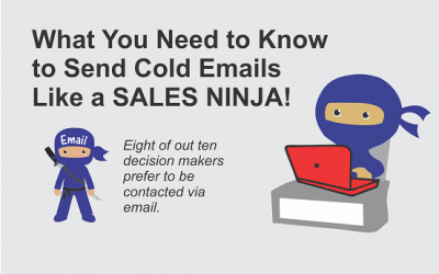 How to send cold emails like a Sales Ninja infograhpic cover image